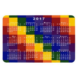 Imán a cuadros del calendario del arco iris 2017