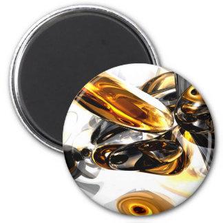 Imán abstracto ambarino negro
