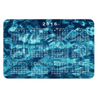Imán abstracto azul del calendario del agua 2016