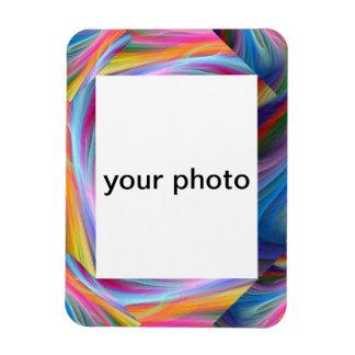imán abstracto de la foto del marco