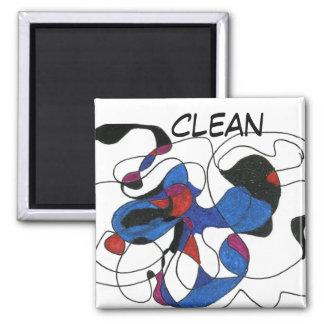 Imán abstracto de la situación del lavaplatos del