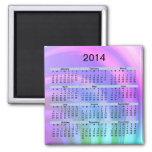 Imán abstracto del arco iris de 2014 calendarios