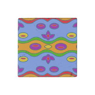 Imán abstracto enrrollado colorido   brillante imán de piedra