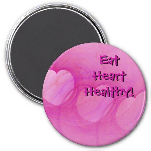 Imán abstracto rosado del corazón