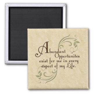 Imán abundante de la afirmación de las oportunidad