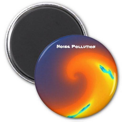 Imán actual sano de la contaminación acústica