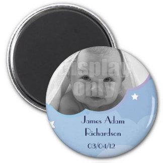 Imán adaptable azul del bebé