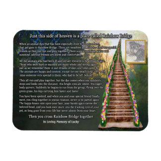 Imán adaptable de la foto del puente del arco iris