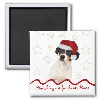 Imán adaptable del cuadrado del perro del navidad