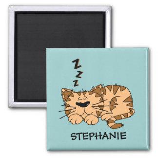 Imán adaptable del gato el dormir