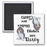 Imán adorable del lavaplatos del perrito del beagl