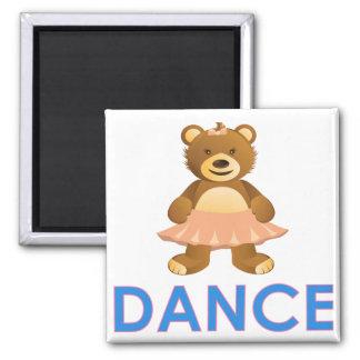 Imán adorable del oso de la danza