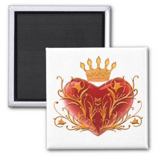 Imán afiligranado del corazón de la corona