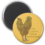 Imán afortunado del gallo el   del oro