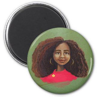 Imán africano del retrato del chica