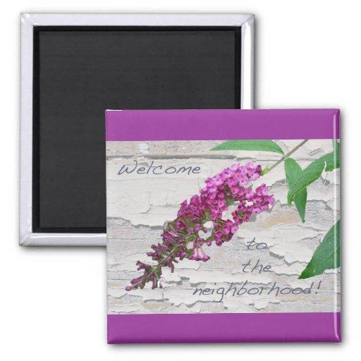 Imán agradable púrpura de Bush de mariposa
