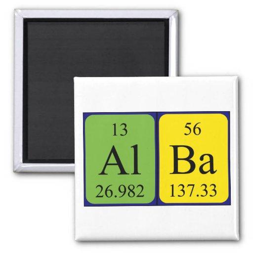 Imán Alba del nombre de la tabla periódica