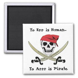 Imán alegre de la charla del pirata de Rogelio