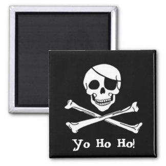 Imán alegre de Rogelio de la bandera de pirata