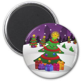 Imán alegre del árbol de navidad