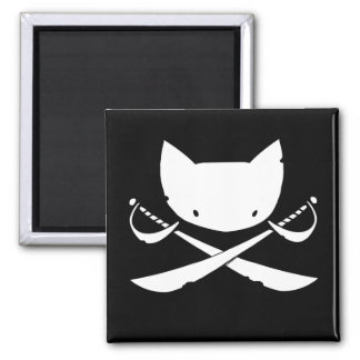 Imán alegre del pirata del gatito