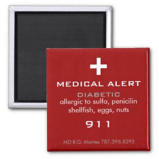 Imán alerta médico