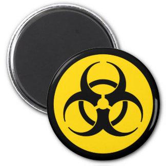Imán amarillo del símbolo del Biohazard