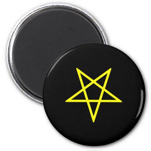 Imán amarillo invertido del Pentagram