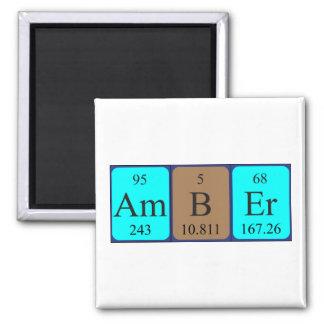 Imán ambarino del nombre de la tabla periódica