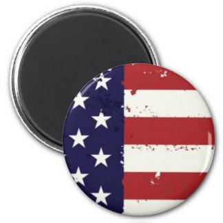 Imán americana de la bandera americana