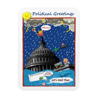 Imán americano del dibujo animado de la política