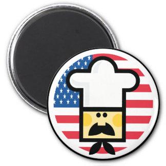 Imán americano del estilo del cocinero