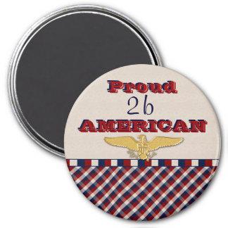 Imán americano orgulloso de Eagle del oro 2b