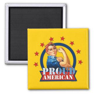 Imán americano orgulloso del remachador de Rosie