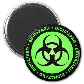 Imán amonestador del Biohazard verde