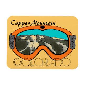 Imán anaranjado de cobre de las gafas de la nieve