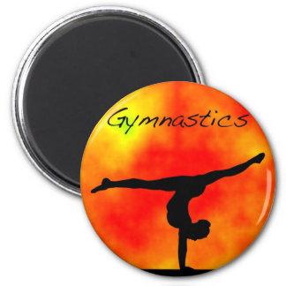 Imán anaranjado de la gimnasia