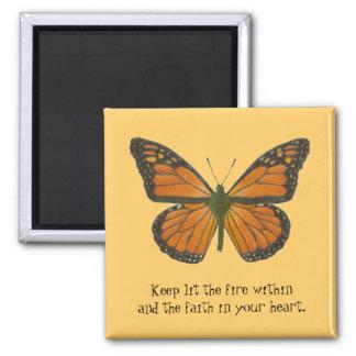 Imán anaranjado de la mariposa