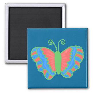 Imán anaranjado de la mariposa del verde azul