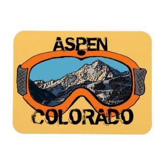 Imán anaranjado de las gafas de la nieve de Aspen