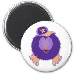 Imán anaranjado púrpura de la gorra de béisbol