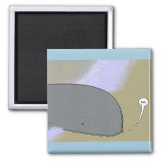 Imán animal del saludo (ballena)