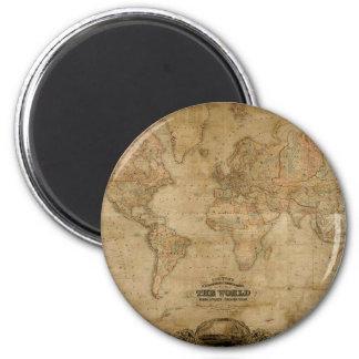 Imán antiguo de la serie del mapa del mundo