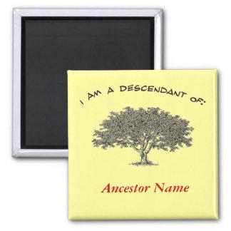 Imán - árbol de la genealogía