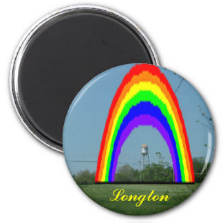 Imán: Arco iris de Longton Imán Redondo 5 Cm