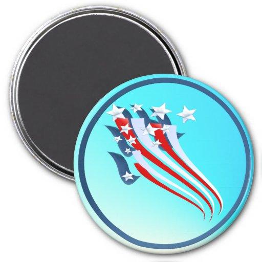 Imán arrebatador de la bandera americana