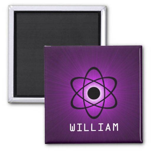 Imán atómico Nerdy, púrpura
