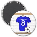 Imán (azul) adaptable de la camisa del fútbol