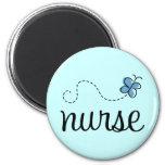 Imán azul bonito de la enfermera