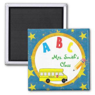 Imán azul D2 del profesor del autobús escolar